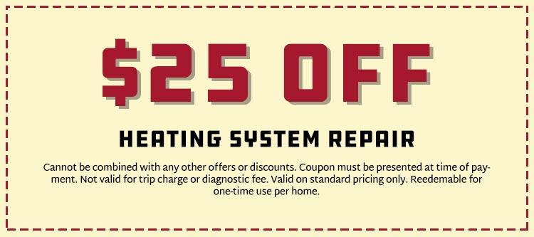 Savings on Heating System Repair
