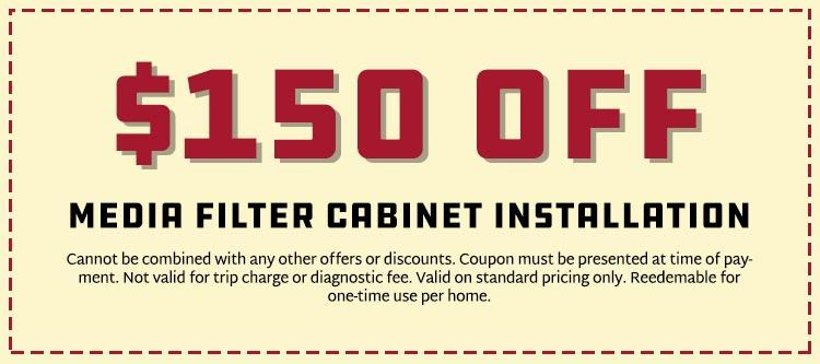 Savings on Media Filter Cabinet Installation